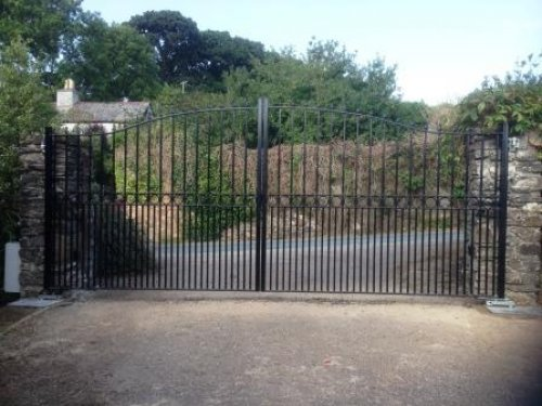 Bespoke Ornate Double Leaf Wrought Iron Gates