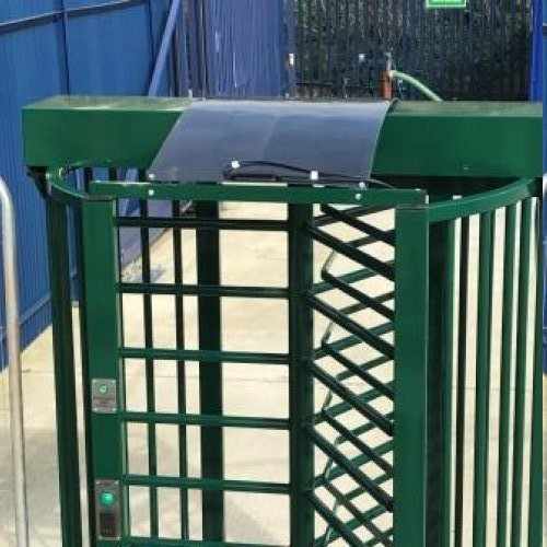 New Solar Powered Turnstile for Immediate Personnel Access Control